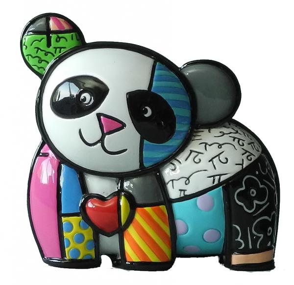 Romero Britto - mini panda lucky figurine