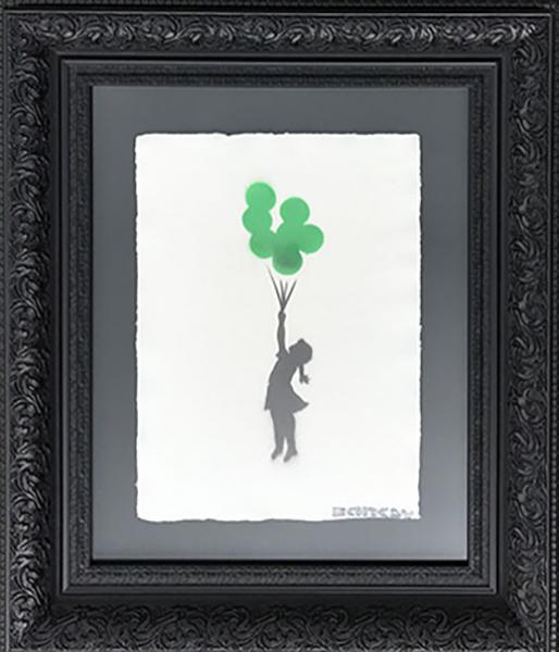 Banksy - Girl with balloons III
