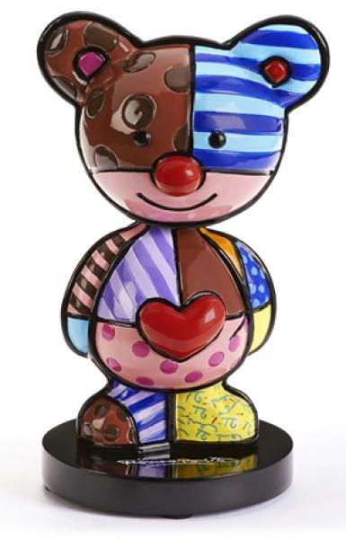 Romero Britto - BRITTO BOBBLE-HEAD TEDDY BEAR FIGURINE