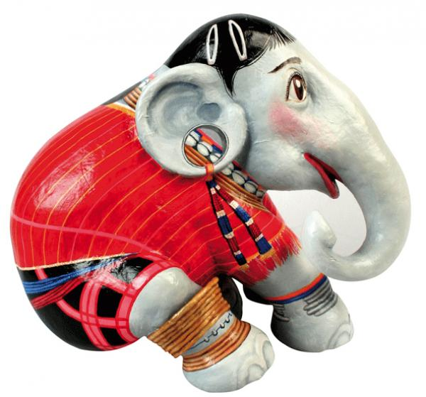 Elephant Parade - Red Karen, Elephant L
