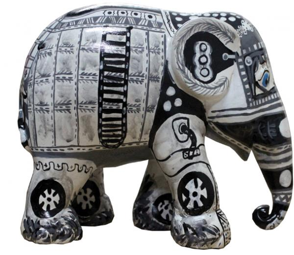 Elephant Parade - Black and White M