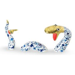 Swimming Snake Delft's blue Gold m