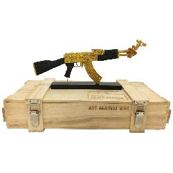 ART AGAINST WAR / AK 47 PEACE EDITION GOLD