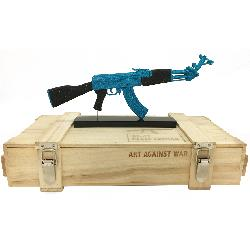 ART AGAINST WAR / AK 47 PEACE EDITION Blue