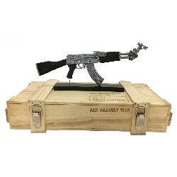 ART AGAINST WAR / AK 47 PEACE EDITION SILVER