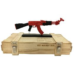 ART AGAINST WAR / AK 47 PEACE EDITION RED