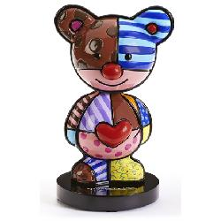 BRITTO BOBBLE-HEAD TEDDY BEAR FIGURINE