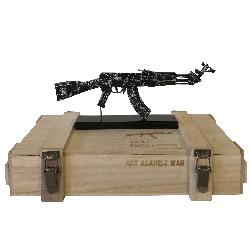 AK 47 BLACK AMEX  ART AGAINST WAR