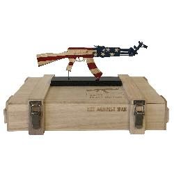AK 47 UNITED STATES  ART AGAINST WAR