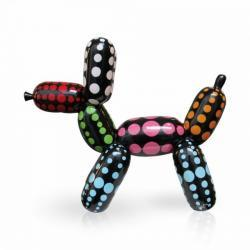 BALLOONDOG BLACK COLOR DOTS L